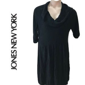 JONES NEW YORK Size 3X Sweater Dress Solid Black